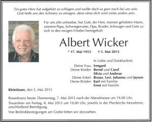 TA Albert Wicker
