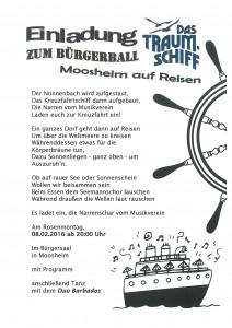 Einladung Bürgerball 2016